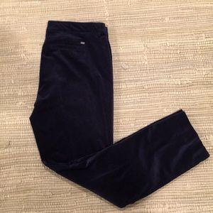 Tommy Hilfiger velvet pants in dark navy. Size 14